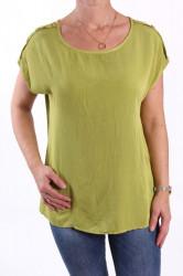 Dámske tričko s gombíkmi - zelené UNIQUE