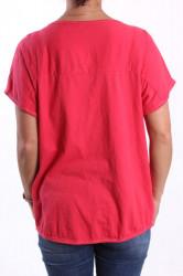 Dámske tričko s lesklými vzormi - ružové #1