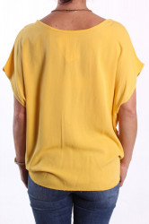 Dámske tričko s retiazkou - žlté #1