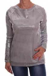 Dámske tričko so strieborným leskom - bledosivé D3