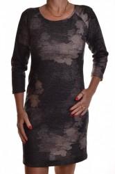 Dámske úpletové šaty - sivo-béžové
