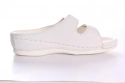 Dámske zdravotné papuče RANFA (DS-8302) - biele #1