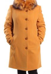 Dámsky flaušový kabát DALIA - okrový AD