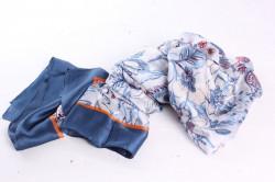Dámsky hodvábny šál (4226) - modrý (90x180 cm)