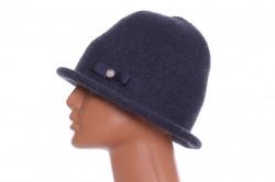Dámsky klobúčik s mašľou - modrý