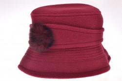 Dámsky klobúk (56-58 cm) - bordový