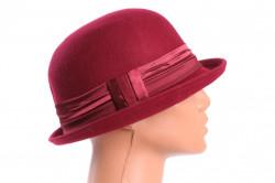 Dámsky klobúk - bordový 1.