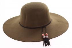 Dámsky klobúk flísový (priemer 40 cm) - zelený 2.