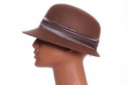 Dámsky klobúk - hnedý
