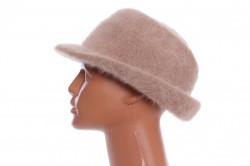 Dámsky klobúk - tmavobéžový
