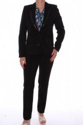 Dámsky nohavicový kostým s imitáciou kože