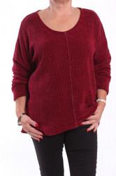 Dámsky pulóver - bordový