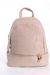 Dámsky ruksak - béžový (24x27x10 cm)