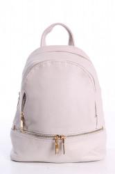 Dámsky ruksak - bledosivý (24x27x10 cm)