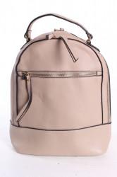 Dámsky ruksak so zipsom - béžový (25x30x12 cm)