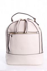 Dámsky ruksak so zipsom - bledosivý (25x30x12 cm)