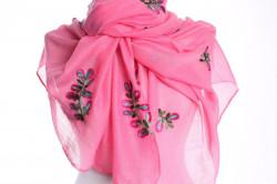 Dámsky šál (22134) - ružový (70x180 cm)