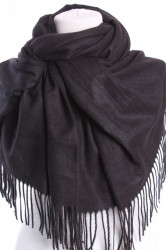 Dámsky šál (5678) - (71x180 cm) - čierny