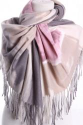 Dámsky šál (5899) - (70x185 cm) - ružovo-sivý