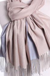 Dámsky šál (5902) - (71x185 cm) - béžovo-sivý