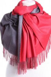 Dámsky šál (5902) - (71x185 cm) - červeno-sivý