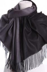 Dámsky šál (5902) - (71x185 cm) - čierno-sivý