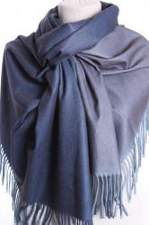 Dámsky šál (5902) - (71x185 cm) - modro-sivý