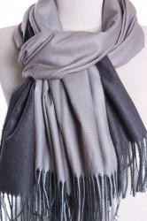 Dámsky šál (5902) - (71x185 cm) - sivý