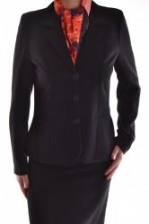 Dámsky sukňový kostým - čierny D25