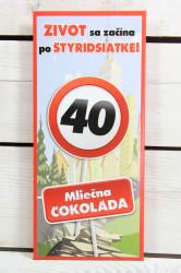 Darčeková čokoláda - VŠETKO NAJLEPŠIE 40