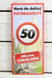 Darčeková čokoláda - VŠETKO NAJLEPŠIE 50