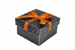 Darčeková krabica - malá, oranžová