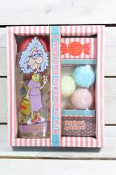 Darčekové balenie - PRE BABIČKU - sprchový gel 300 ml +3 x ručne vyrábané mydlo