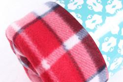 Deka flísová kockovaná (180x200 cm) - červená #1