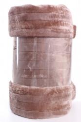 Deka flísová vrúbkovaná (200x230 cm) - bledohnedá