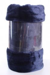 Deka flísová vrúbkovaná (200x230 cm) - tmavomodrá