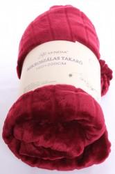 Deka flísová vrúbkovaná - bordová (180x200 cm)
