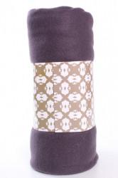 Deka jednofarebná (150x200 cm) - sivo-fialová