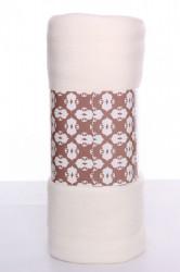 Deka jednofarebná (200x230 cm) - krémová