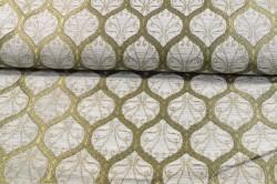 Dekoračná látka - drap.-zelená (š. 140 cm)