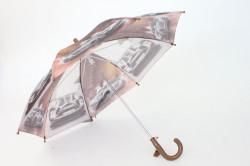 Detská dáždnik s píšťalkou FEELING RAING 10201 - AUTO VZOR 10.- hnedý (p. 87 cm)