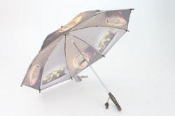Detská dáždnik s píšťalkou FEELING RAING 10201 - AUTO VZOR 12.- hnedosivý (p. 87 cm)