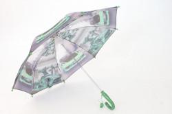 Detská dáždnik s píšťalkou FEELING RAING 10201 - AUTO VZOR 2.- zelený (p. 87 cm)