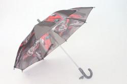 Detská dáždnik s píšťalkou FEELING RAING 10201 - AUTO VZOR 4.- sivý (p. 87 cm)
