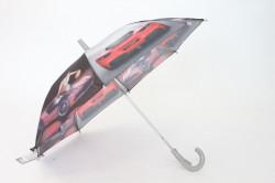 Detská dáždnik s píšťalkou FEELING RAING 10201 - AUTO VZOR 5.- bledosivý (p. 87 cm)