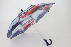 Detská dáždnik s píšťalkou FEELING RAING 10201 - AUTO VZOR 6.- tmavofialový (p. 87 cm)