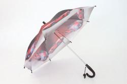 Detská dáždnik s píšťalkou FEELING RAING 10201 - AUTO VZOR 9.- tmavohnedý (p. 87 cm)