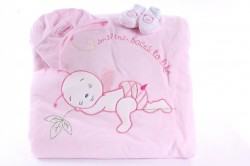 Detská deka s macíkom - ružová