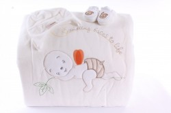Detská deka s macíkom - vanilková