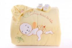 Detská deka s macíkom - žltá